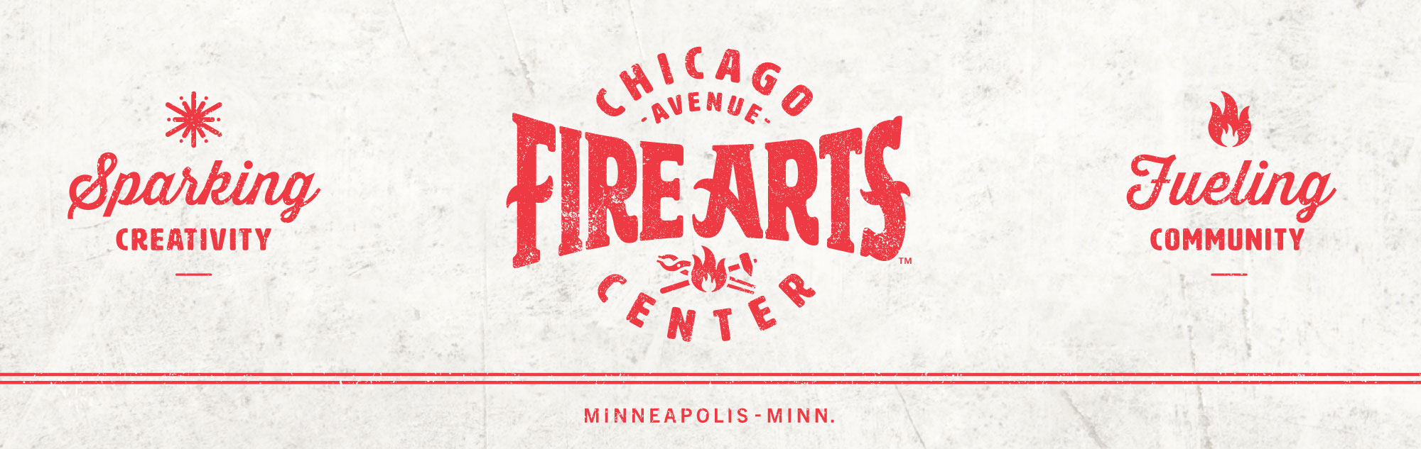 Chicago Avenue Fire Arts Center Logo Masthead